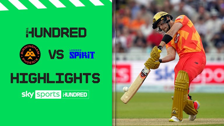 Watch the best of the action from a thriller between Birmingham Phoenix and London Spirit at Edgbaston