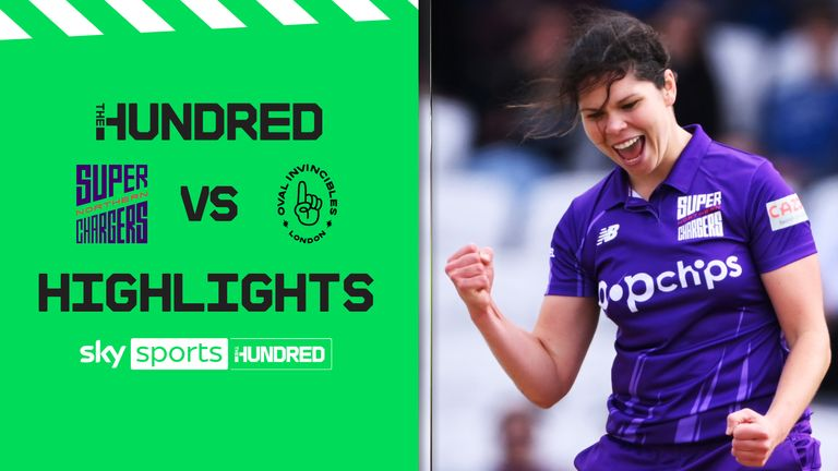 Highlights of the women's Hundred game between the Northern Superchargers and the Oval Invincibles.