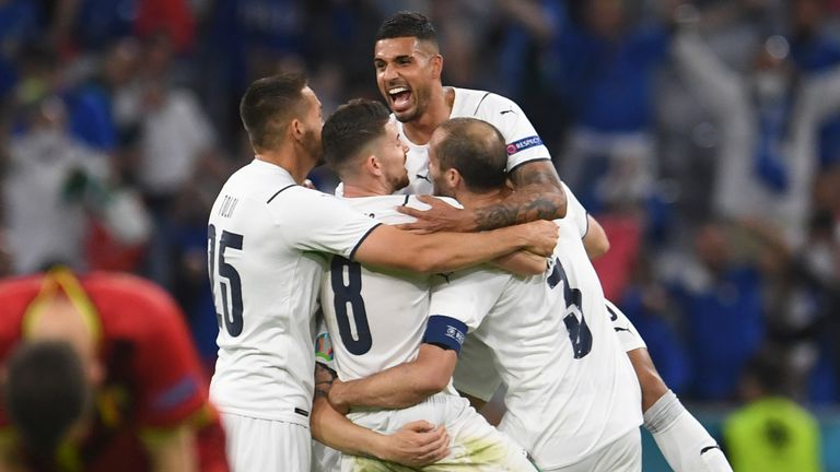 Italy will face Spain in the semi-finals on Tuesday