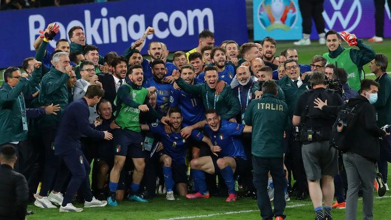 Italy's strong team spirit under Roberto Mancini has helped to see them flourish during Euro 2020