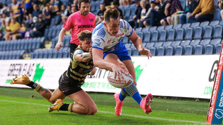 Youngster Jack Broadbent bagged four tries for Leeds Rhinos in their 48-18 defeat of Leigh Centurions last Thursday