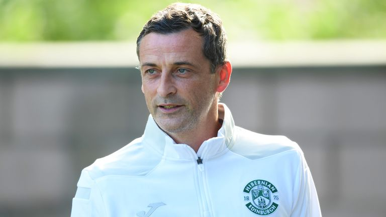 EDINBURGH, SCOTLAND - JULY 13: Hibernian manager Jack Ross during a pre-season friendly between Hibernian and Arsenal at Easter Road, on July 13, 2021, in Edinburgh, Scotland (Photo by Ross Parker / SNS Group)