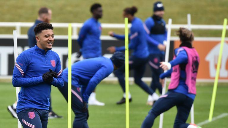 AP - Jadon Sancho at England training