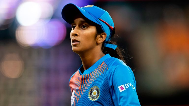 Jemimah Rodrigues of India during the ICC T20 Women's World Cup cricket match between Australia and India at Sydney Showground on February 21, 2020 in Sydney, Australia.  (Photo by Speed Media / Icon Sportswire)