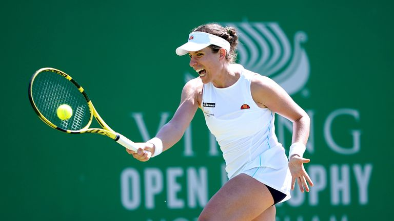 Konta made her Olympic debut in Rio in 2016