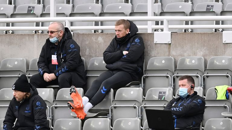 Pickford was rotated out of the side at Newcastle in November