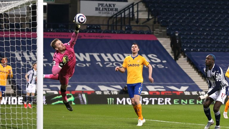 Pickford preserves another clean sheet at West Brom