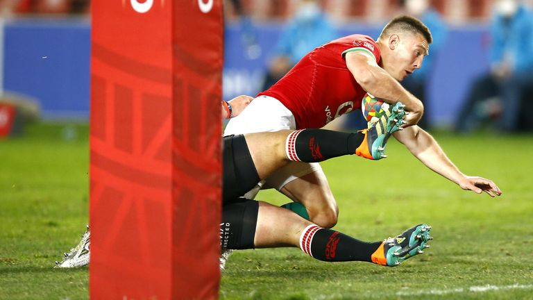 Adams made it five tries in two games for the Lions, with his four efforts in Johannesburg