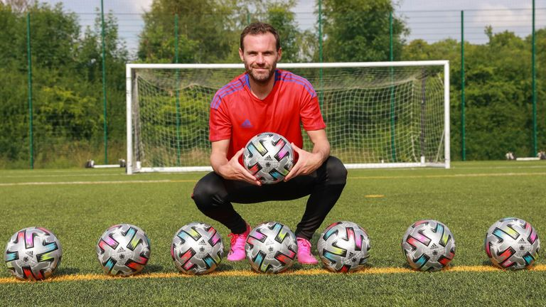 Juan Mata pictured following the announcement that adidas will contribute 1 per cent of the global net sales of their footballs to Common Goal