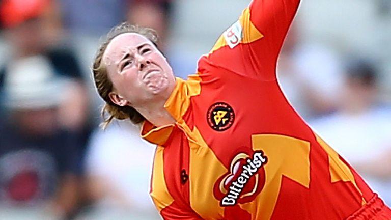 Kirstie Gordon claimed three wickets as Birmingham Phoenix restricted Manchester Originals to earn their first win (Credit: ECB)