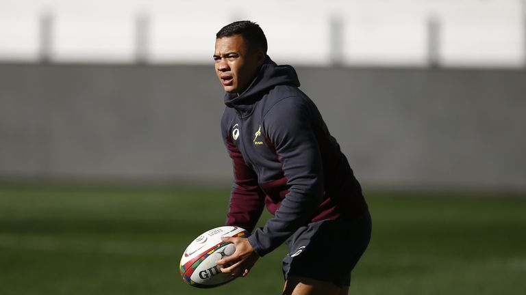 South Africa's star wing Cheslin Kolbe was barely involved in their first Test defeat