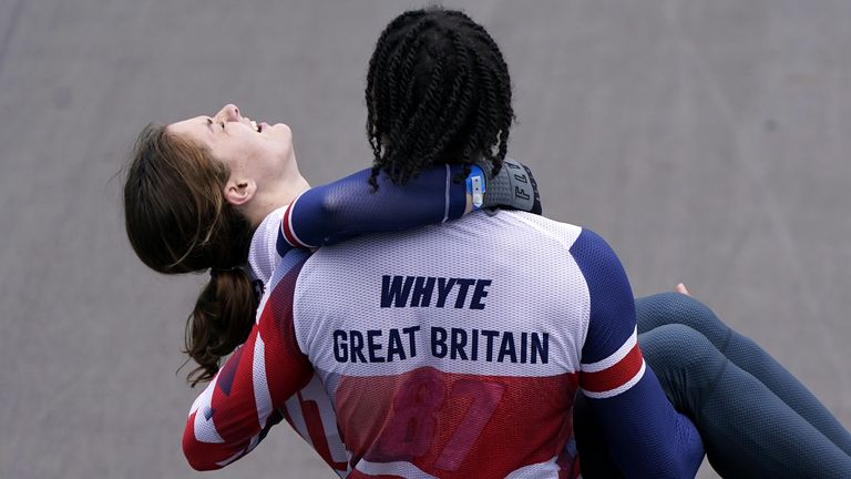 Beth Shriever and Kye Whyte were in a jubilant mood after picking up a medal each in BMX racing