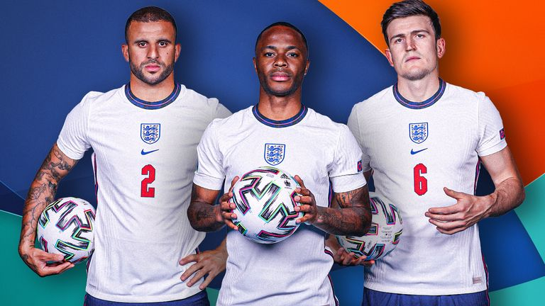 Kyle Walker, Raheem Sterling and Harry Maguire were named in UEFA's Team of the Tournament for Euro 2020