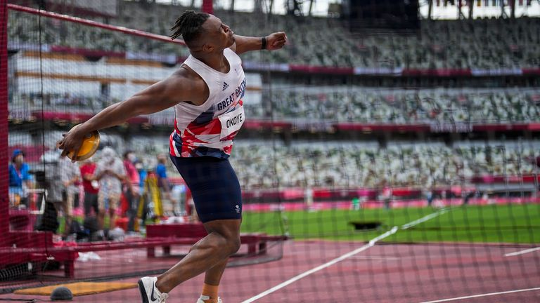Lawrence Okoye agonisingly recorded three no throws in qualifying