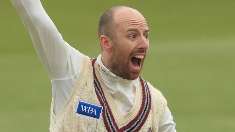Jack Leach took five wickets on the day Somerset's progression to County Championship Division One was confirmed