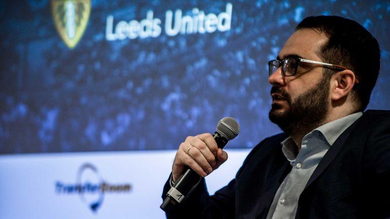 Leeds United director of football Victor Orta speaking at the TransferRoom summit [Source: TransferRoom]