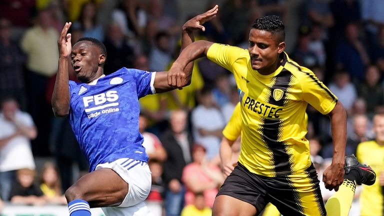 Patson Daka made his first appearance for Leicester during their friendly against Burton