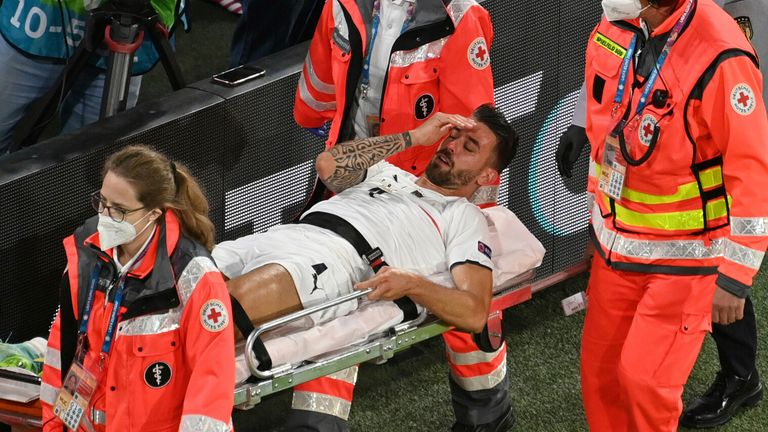 Leonardo Spinazzola suffered a ruptured achilles during the Euro 2020 quarter-final win over Belgium