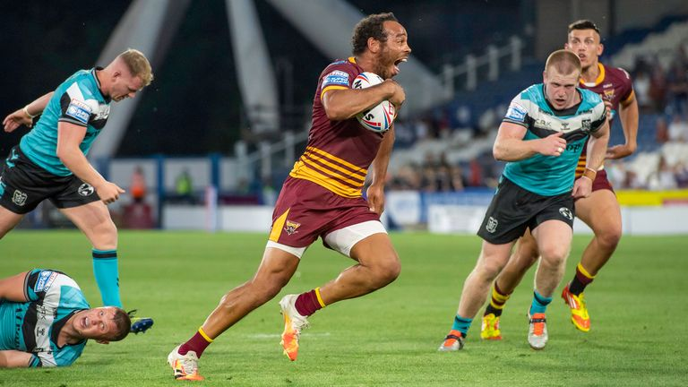Leroy Cudjoe capped his 300th Huddersfield appearance with a try