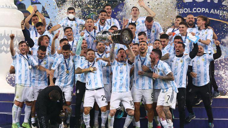 Argentina lift the Copa America title