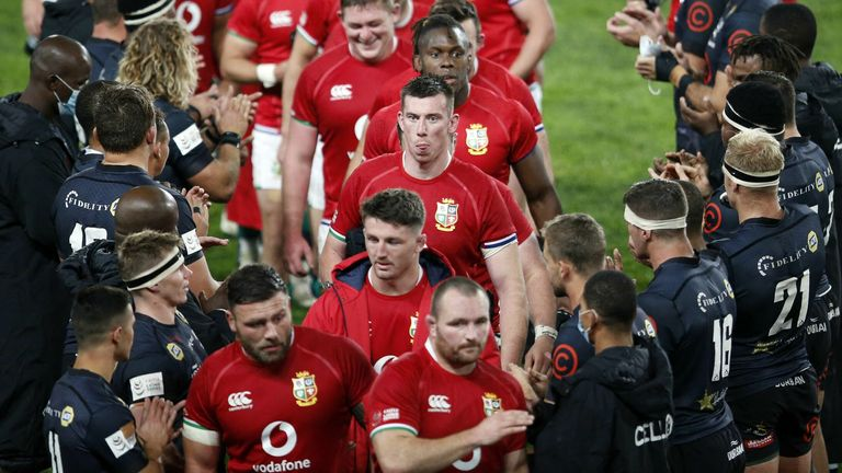 The British and Irish Lions will play the Cell C Sharks on Saturday - who they met on Wednesday
