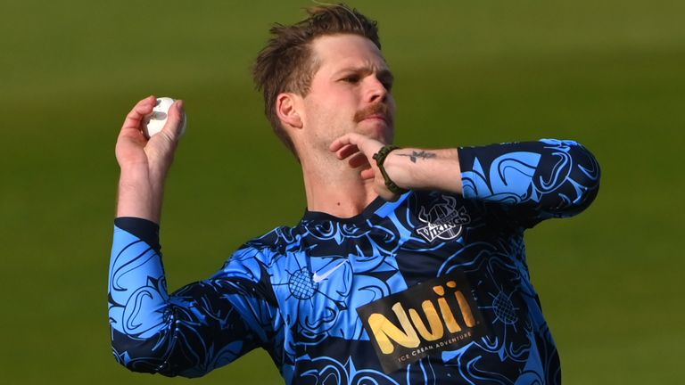 Lockie Ferguson made history by taking Yorkshire's first T20 hat-trick to seal a nine-wicket win over Lancashire in the Vitality Blast