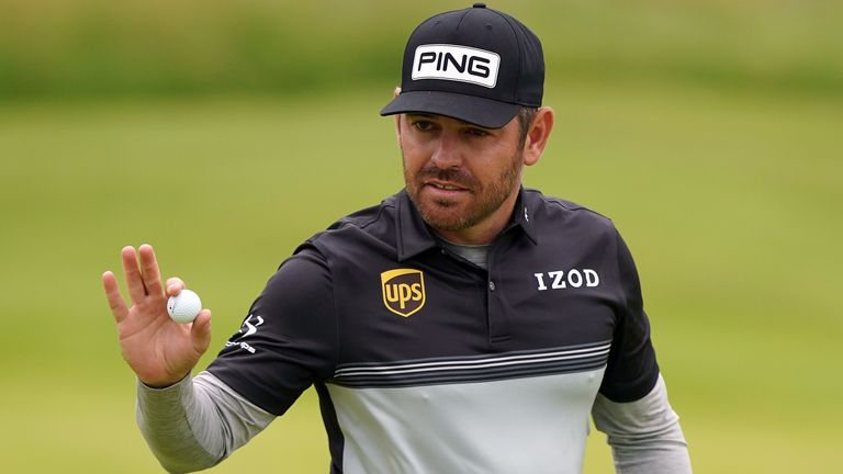 Louis Oosthuizen finished on six under par to take the lead after the first round at The Open at Royal St George's.
