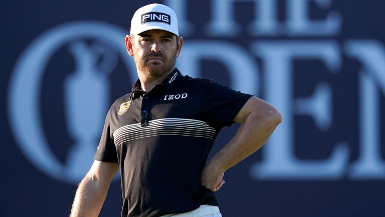 Louis Oosthuizen's record-breaking performance over the first 36 holes has earned him a two-shot lead at the halfway stage of The 149th Open.