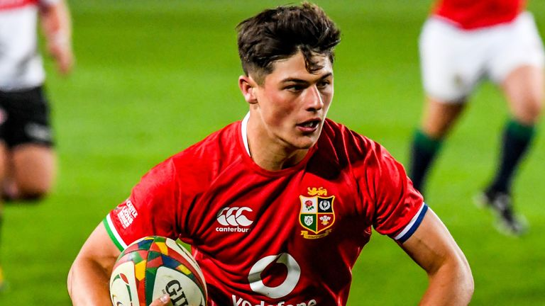 Wing Louis Rees-Zammit became the youngest British and Irish Lions try scorer since 1968 with his score