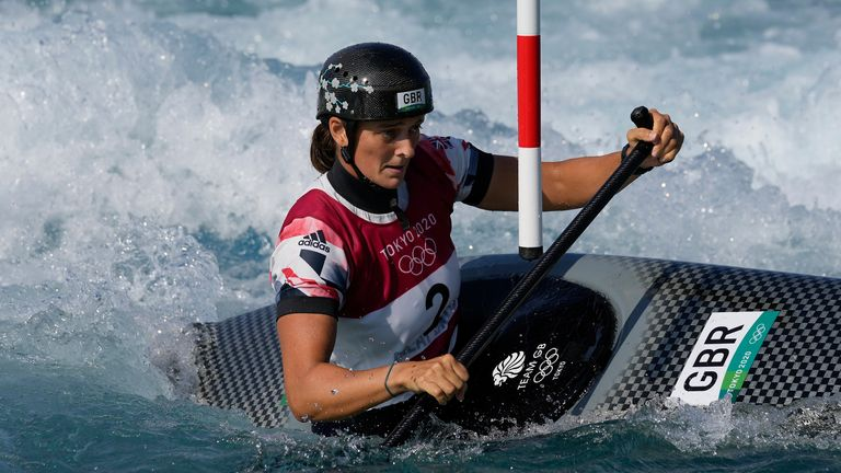 Mallory Franklin of Team GB in the women's C1