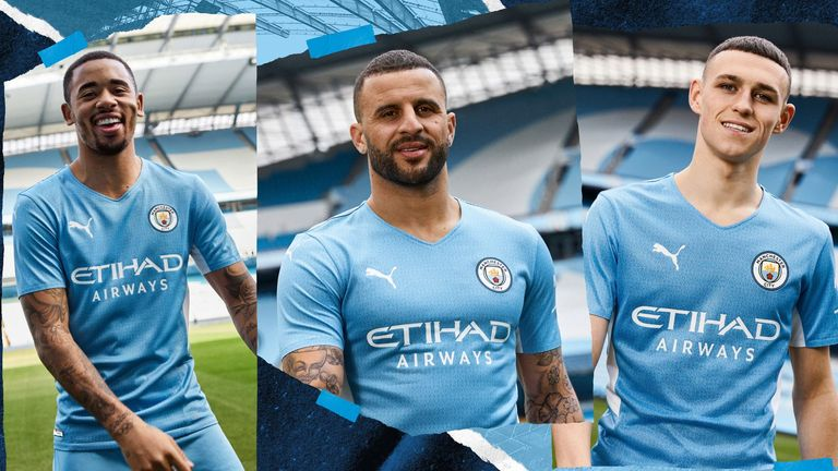 Manchester City have released a home kit inspired by the iconic 93:20 goal
