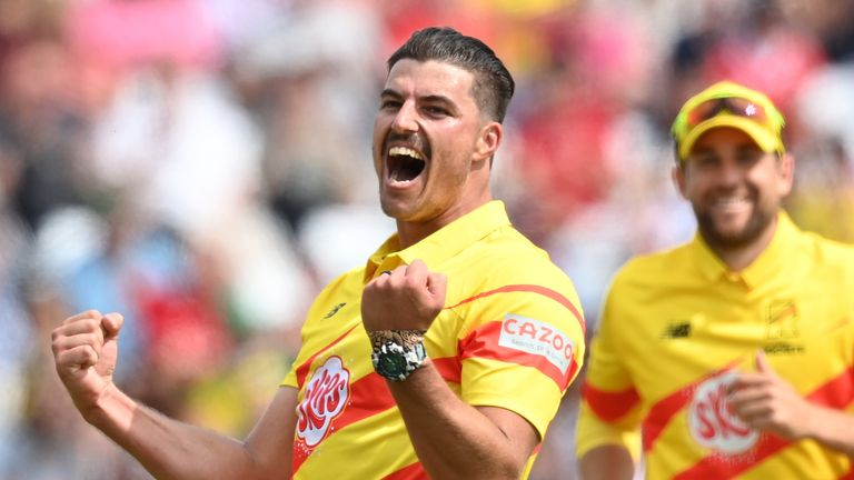 Trent Rockets fast bowler Marchant de Lange claimed the first ever five-wicket haul in The Hundred