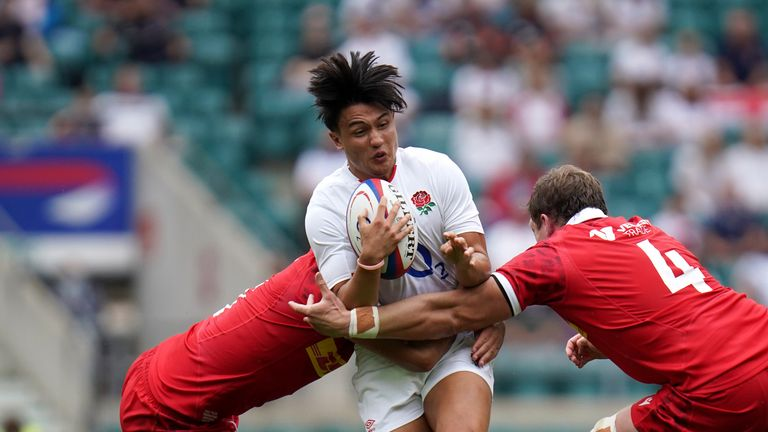 Marcus Smith takes on the Canada defence