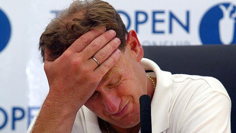 Mark Roe was disqualified from The Open at Royal St George's in 2003