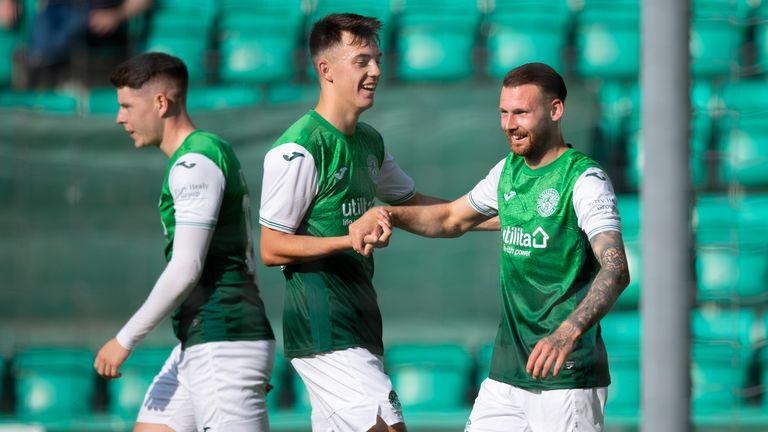 Martin Boyle (R) celebrates his goal to make it 1-0