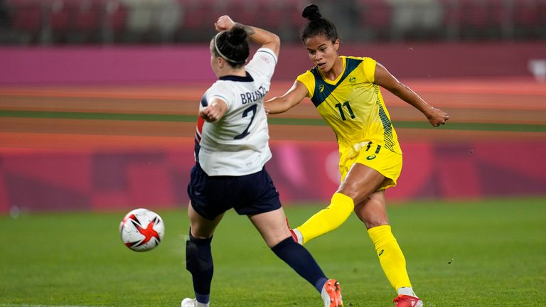 Mary Fowler struck Australia's third in extra time