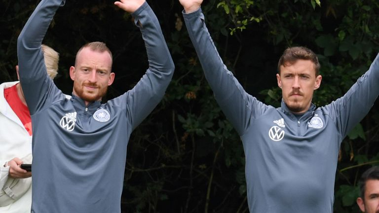 Maximilian Arnold (left) and Max Kruse (right) are in Germany's squad