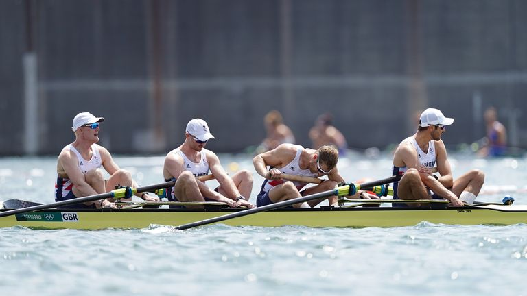 Disappointment for Team GB's men's four as they finish fourth in the final in Tokyo