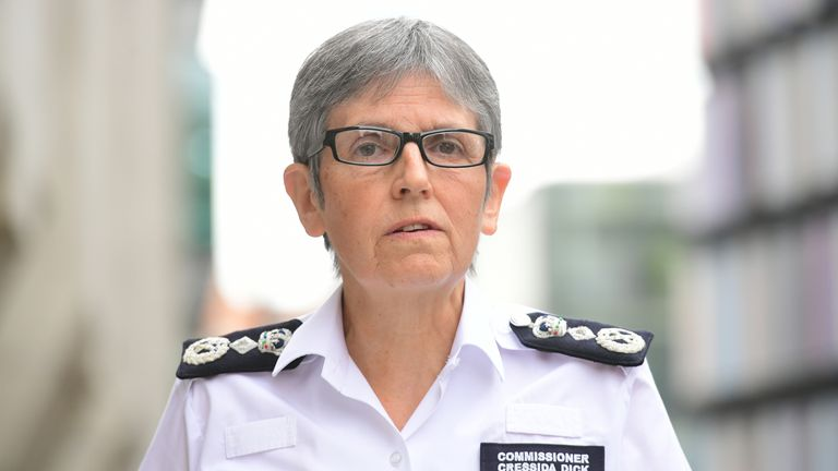 Metropolitan Police commissioner Cressida Dick has given her support to officers on duty at Wembley for the Euro 2020 final