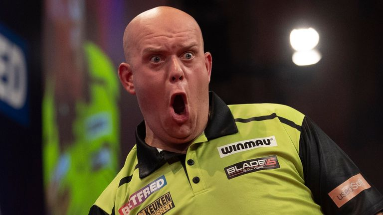 Job done for Michael van Gerwen in round one of the World Matchplay (Image: Lawrence Lustig/PDC)