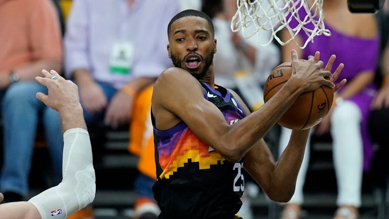 Mikal Bridges in action during Game 5