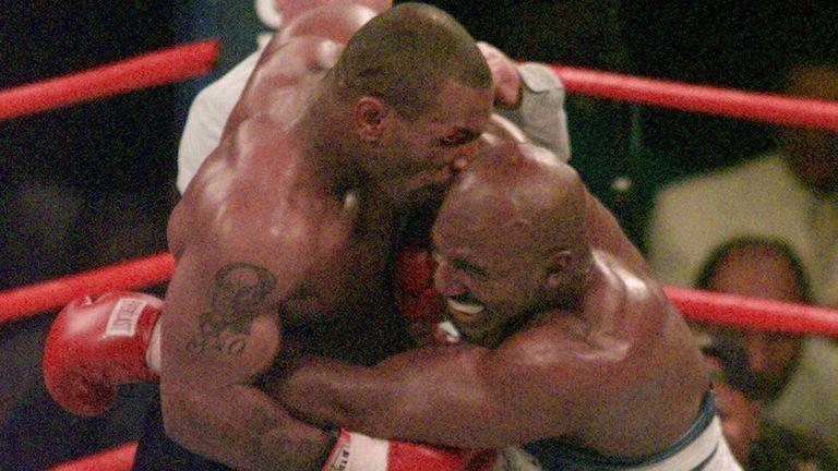Tyson notoriously bit Holyfield