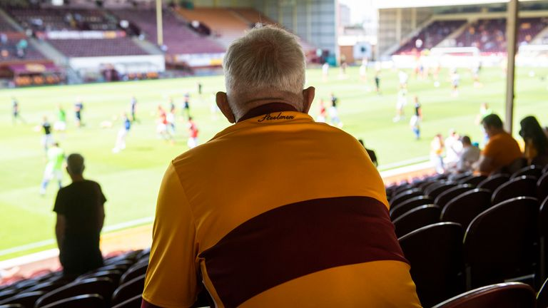 Fans' view from Motherwell's Fir Park