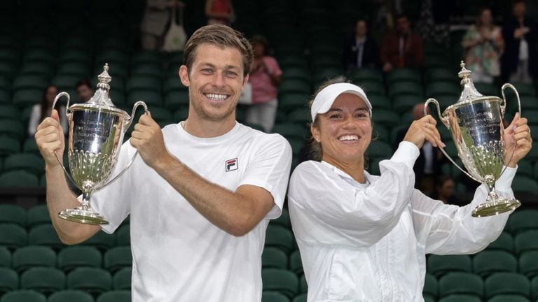 The duo lost only one set en route to taking the tilte at the All England Lawn Tennis Club
