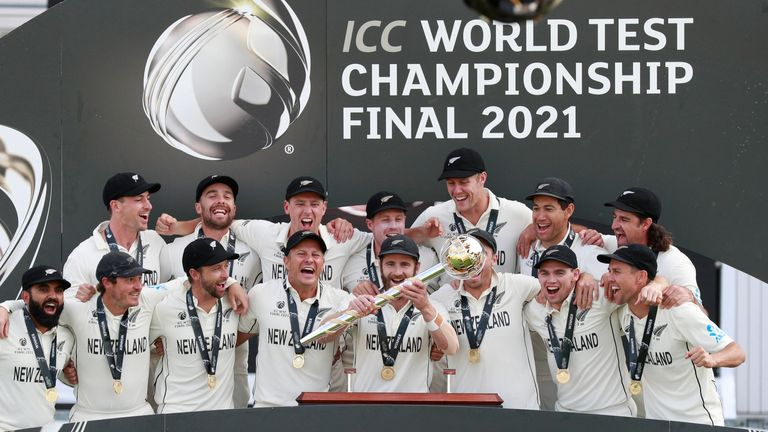 New Zealand beat India by eight wickets to win the first-ever World Test Championship last month
