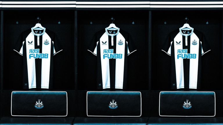 Newcastle have revealed the first of their strips with Castore