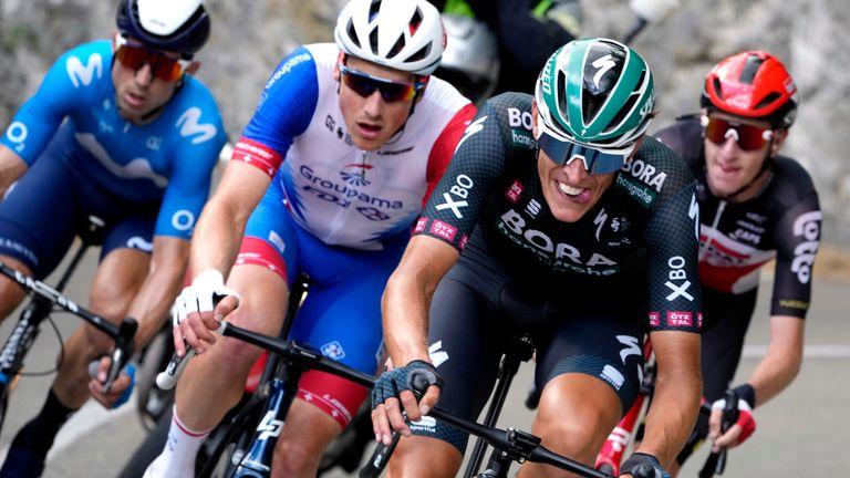 Politt rides with a breakaway group (AP)