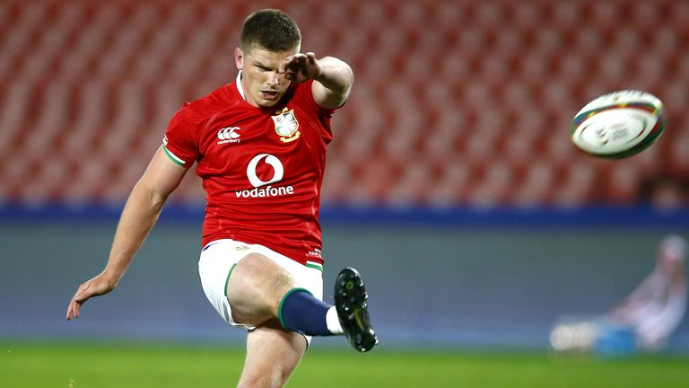 Owen Farrell was 100 per cent off the kicking tee, landing all eight conversions