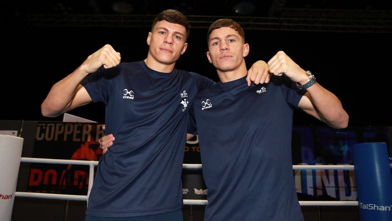 Great Britain's Pat and Luke McCormack during the media day at the Copper Box Arena, London. PA Photo. Picture date: Thursday March 12, 2020. Photo credit should read: Adam Davy/PA Wire