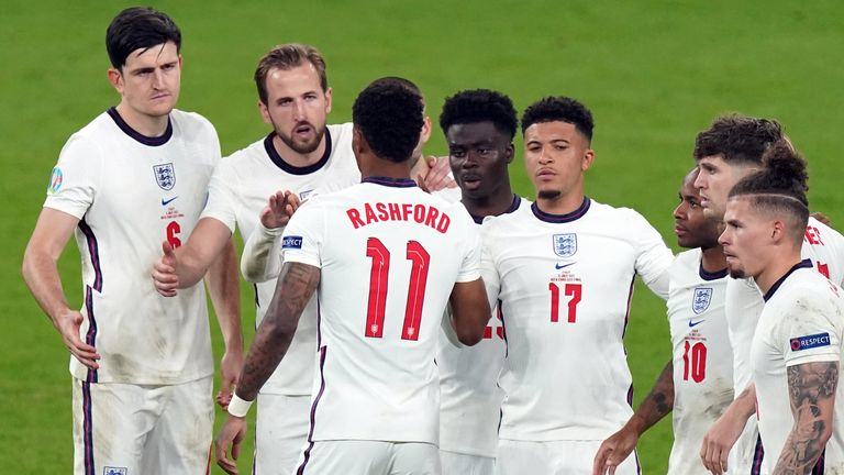 Marcus Rashford, Bukayo Saka and Jadon Sancho missed penalties in England's shootout defeat